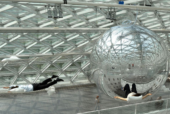 In Orbit Floating Installation By Tom 225 S Saraceno