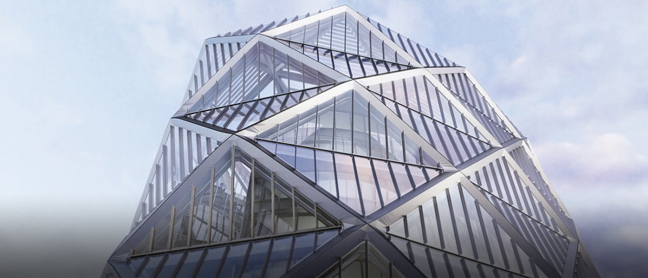 Diagrid Exoskeleton For Poly International Plaza Itsliquid