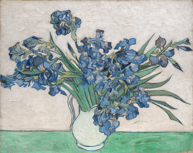 Van Gogh Irises and Roses Vincent van Gogh, Irises, 1890