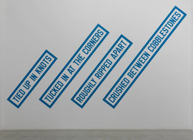 CRUSHED BETWEEN COBBLESTONES 1988 by Lawrence Weiner born 1942