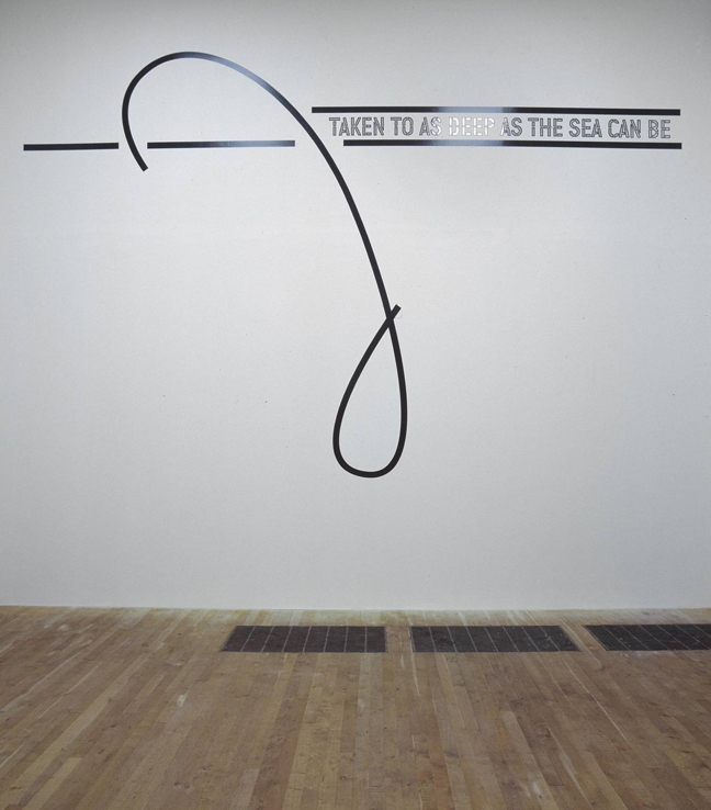 TAKEN TO AS DEEP AS THE SEA CAN BE 2005 by Lawrence Weiner born 1942