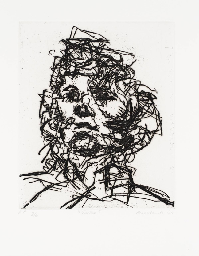 Jake 1990 by Frank Auerbach born 1931