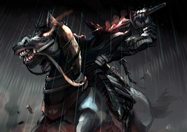 Dark Horse-knight illustration