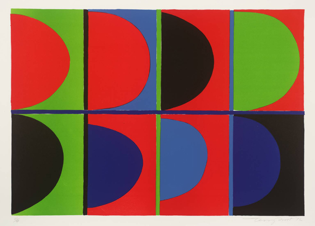 Red, Blue, Green 1972 by Sir Terry Frost 1915-2003