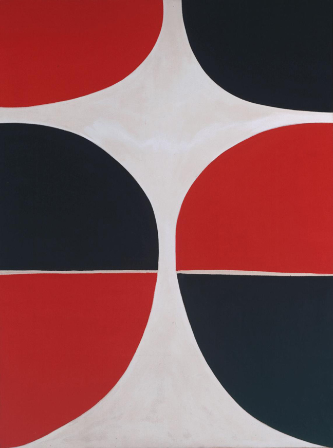 June, Red and Black 1965 by Sir Terry Frost 1915-2003