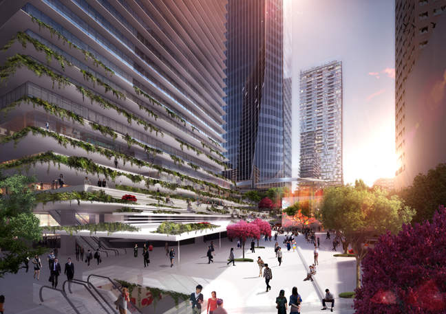 Ingenhoven architects has released its design for the Toranomon Project