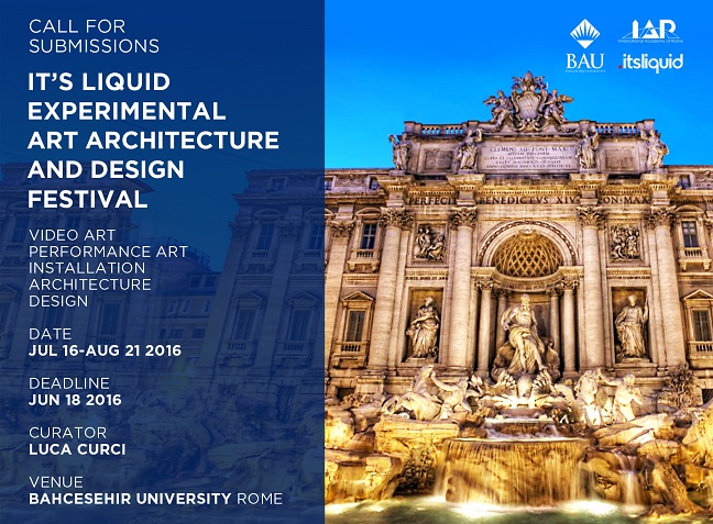 Call for submissions: It's LIQUID Experimental Art Architecture and Design Festival | Rome