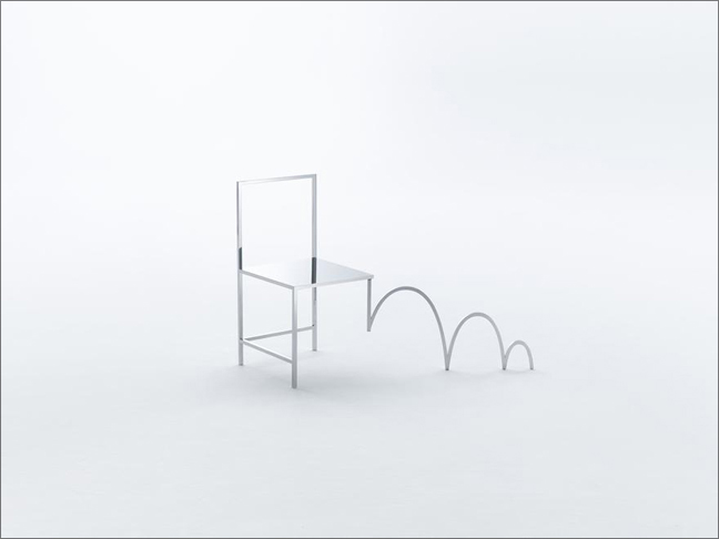 50 Manga Chairs is Friedman Benda's third solo show with nendo and the Japanese design group's most ambitious body of work to date.
