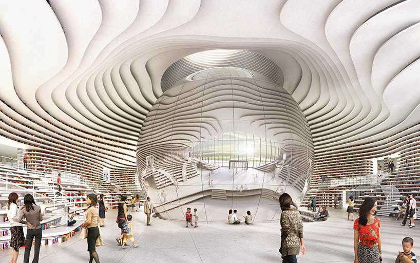 Tianjin impressive library by MVRDV