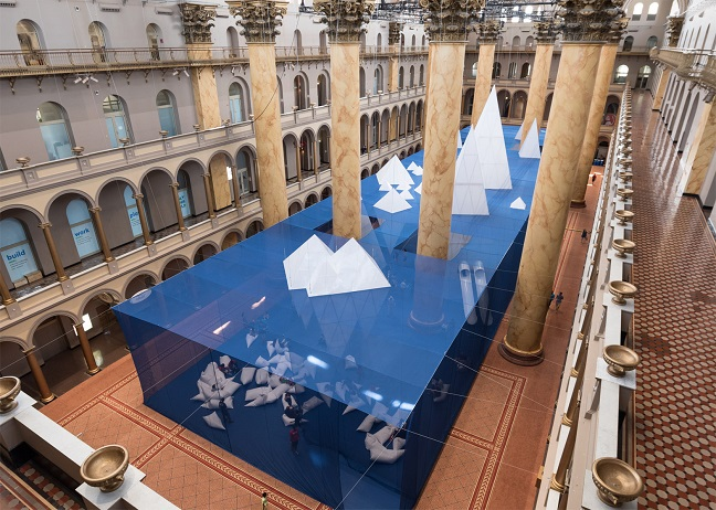 Icebergs at National Building Museum in Washington DC