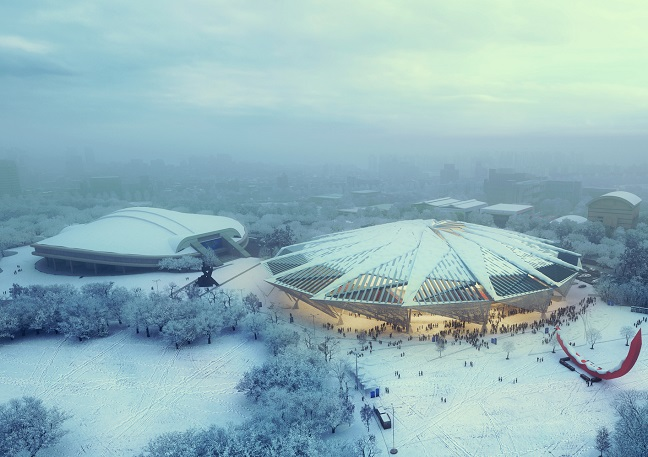 Olympic Gymnastic Arena by HAEAHN and H Architecture