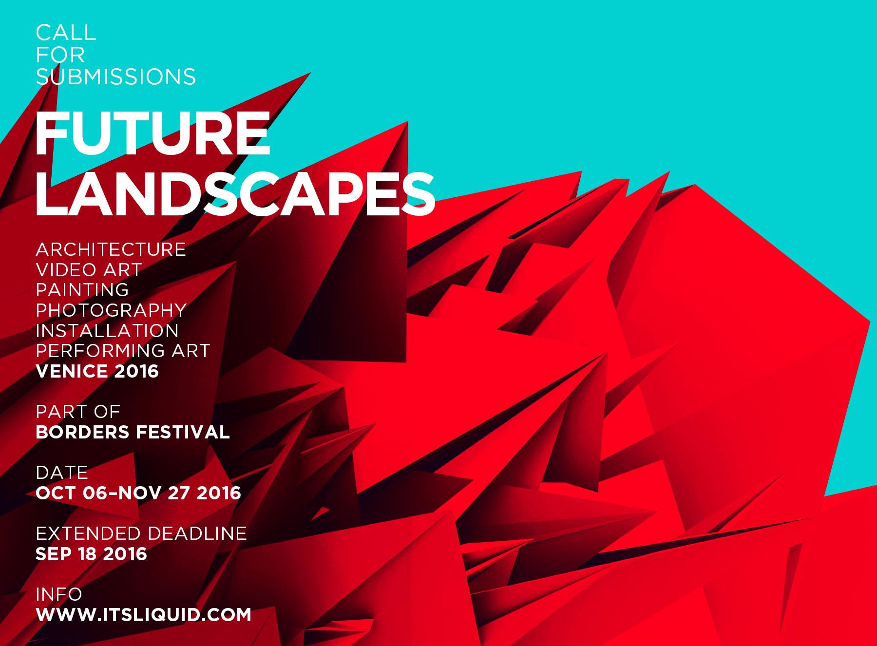 Call for submissions: FUTURE LANDSCAPES
