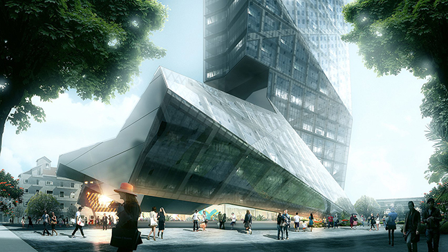 Hanking Center Tower by Morphosis