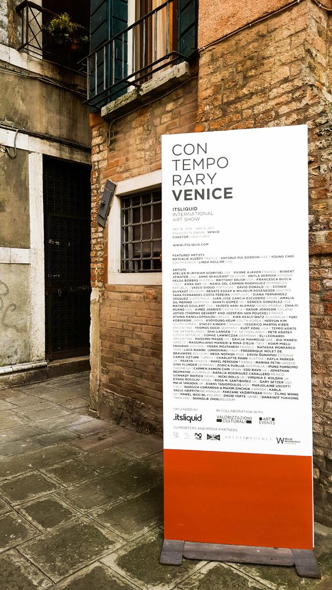 Feedback release: CONTEMPORARY VENICE - 2016