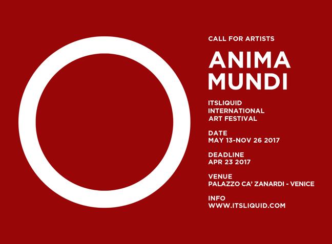 Call for artists ANIMA MUNDI festival - Venice 2017