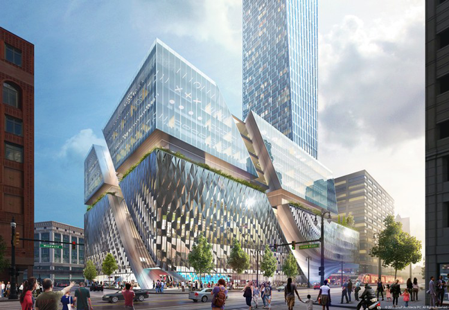 Detroit's Tallest Tower on Historic Downtown Site by SHoP