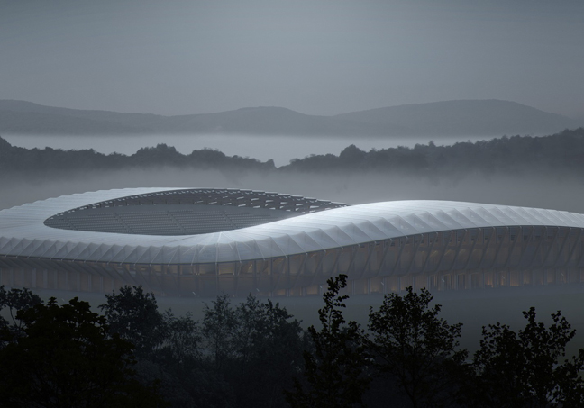 The World's First All-Wood Stadium designed by Zaha Hadid Architects