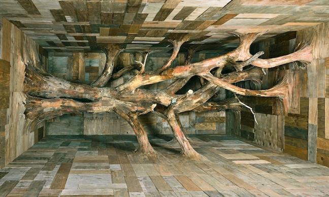 Henrique Oliveira at Van de Weghe Gallery