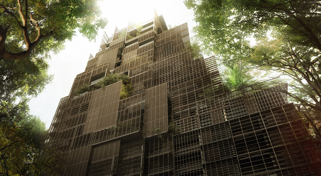 Jean Nouvel's rosewood tower: an oasis in the middle of São Paulo
