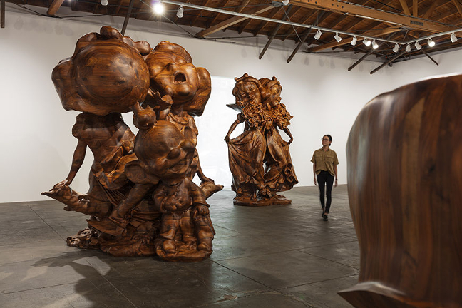 Paul McCarthy WS Spinoffs, Wood Statues, Brown Rothkos