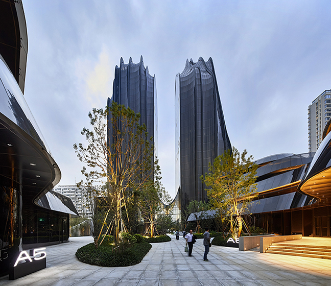 Chaoyang Park Plaza - Impression of an Ink Landscape on Beijing's Skyline