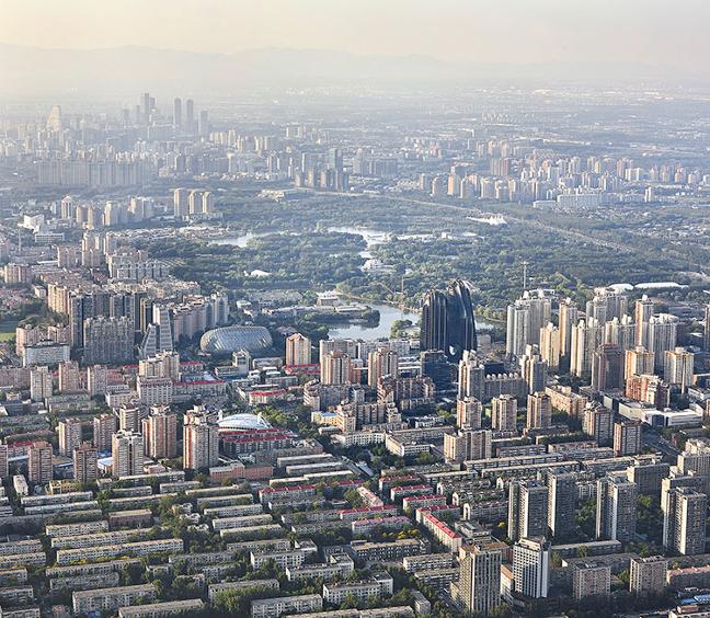 Chaoyang Park Plaza - Impression of an Ink Landscape on Beijing's Skyline