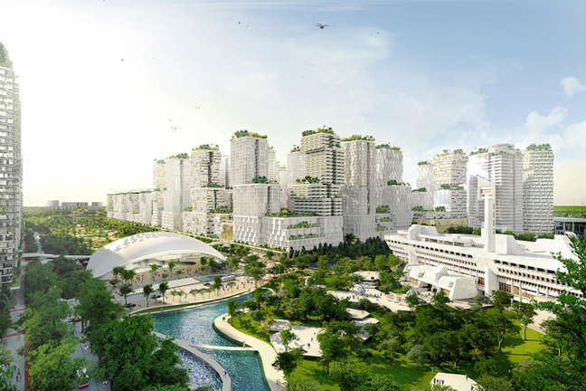 Jurong Lake District - New central business district of Singapore