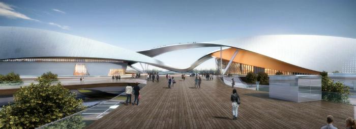 The Suzhou Cultural Centre by Christian de Portzamparc