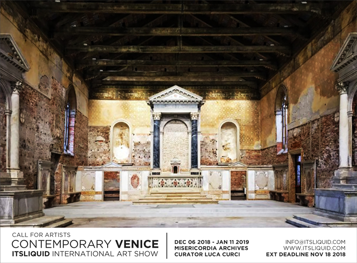CALL FOR ARTISTS: CONTEMPORARY VENICE 2018 - Misericordia Archives