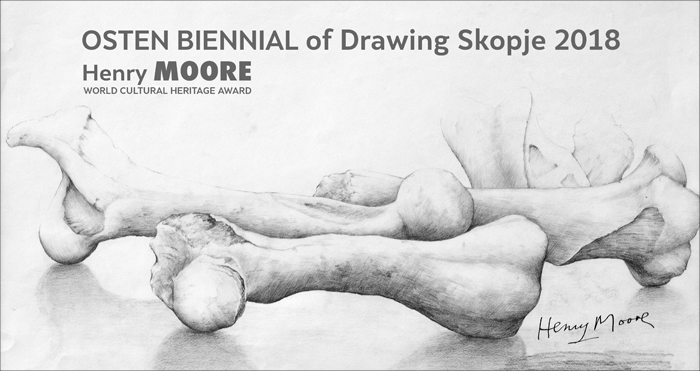 OSTEN BIENNIAL of DRAWING 2018 - Henry Moore banner