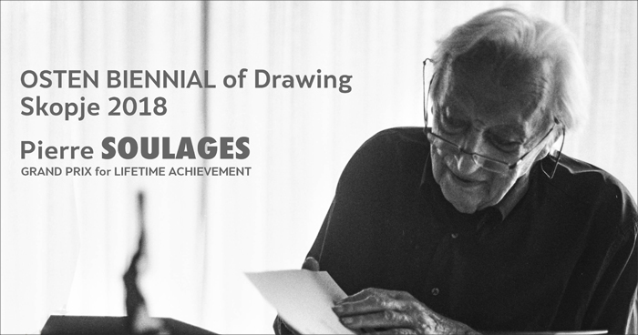 OSTEN BIENNIAL of DRAWING 2018 - Pierre Soulages
