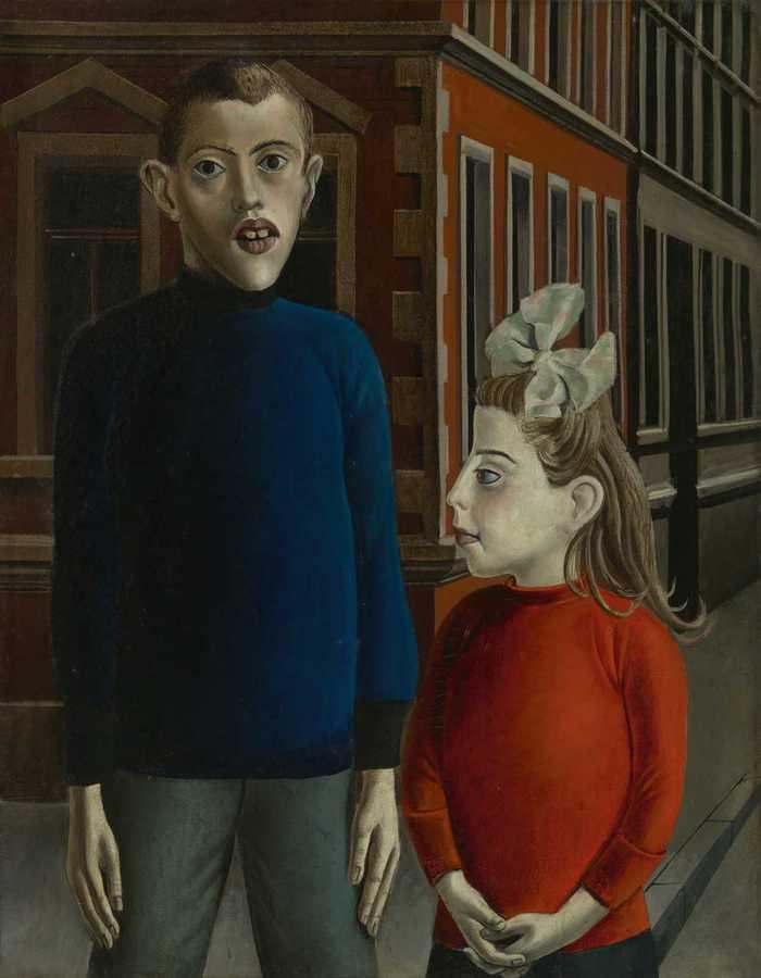 Otto Dix, Zwei Kinder, 1921, Royal Museums of Fine Arts of Belgium, Brussels, inv. 7510 - VG Bild-Kunst, Bonn © SABAM Belgium