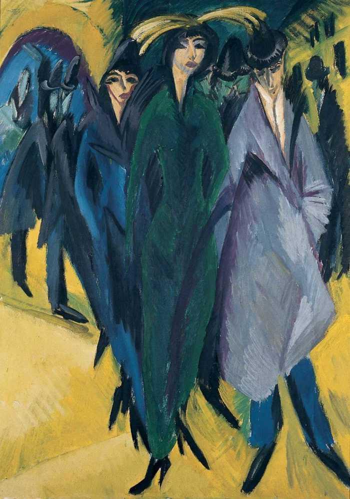 Ernst Ludwig Kirchner, Frauen auf der Straße, 1915 - © Van der Heydt-Museum Wuppertal, Germany