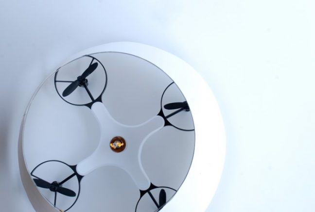 Kazuhiro Yumanaka: the flying drone lamp