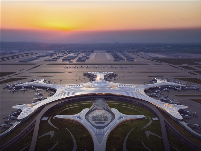 Terminal 3 of Harbin Taiping International Airport by MAD Architects