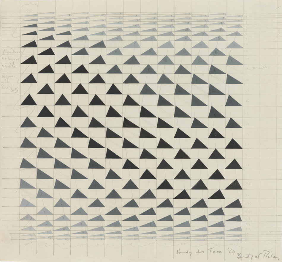 Bridget Riley Study For 'turn' 014