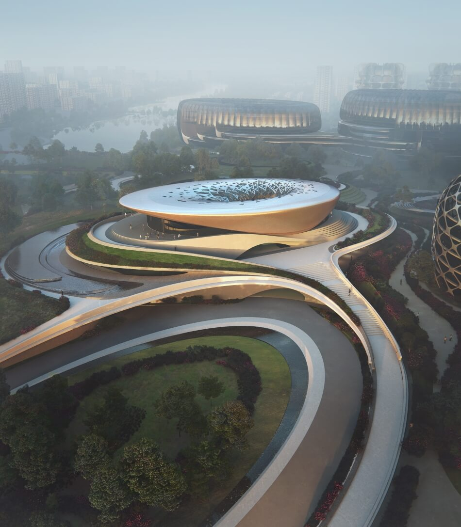 Project Unicorn Island masterplan by Zaha Hadid
