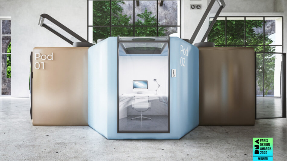 Q.workntine: Pod system for offices