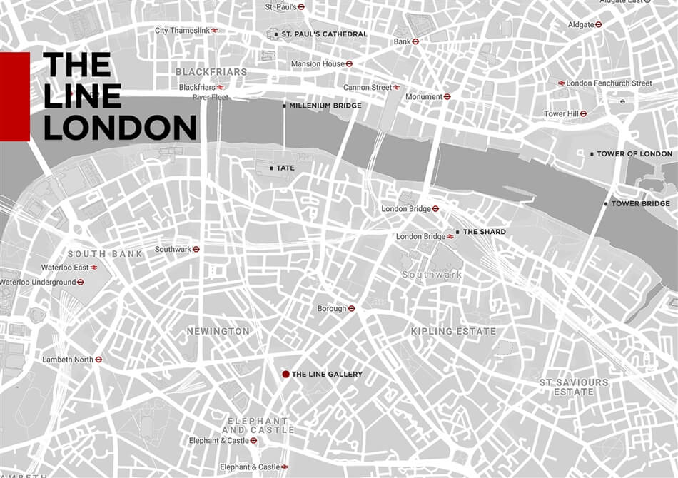 The Line London Map
