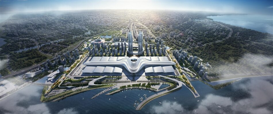 Xiamen Convention Exhibition Center & Sports Precinct by Woods Bagot