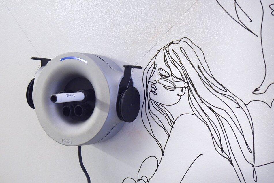 Scribit: The Write&Erase Robot Empowers Human Creativity