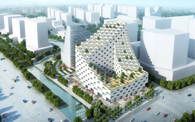 Jds architects hangzhou waves it 39 s liquid group for Terrace youth residential services